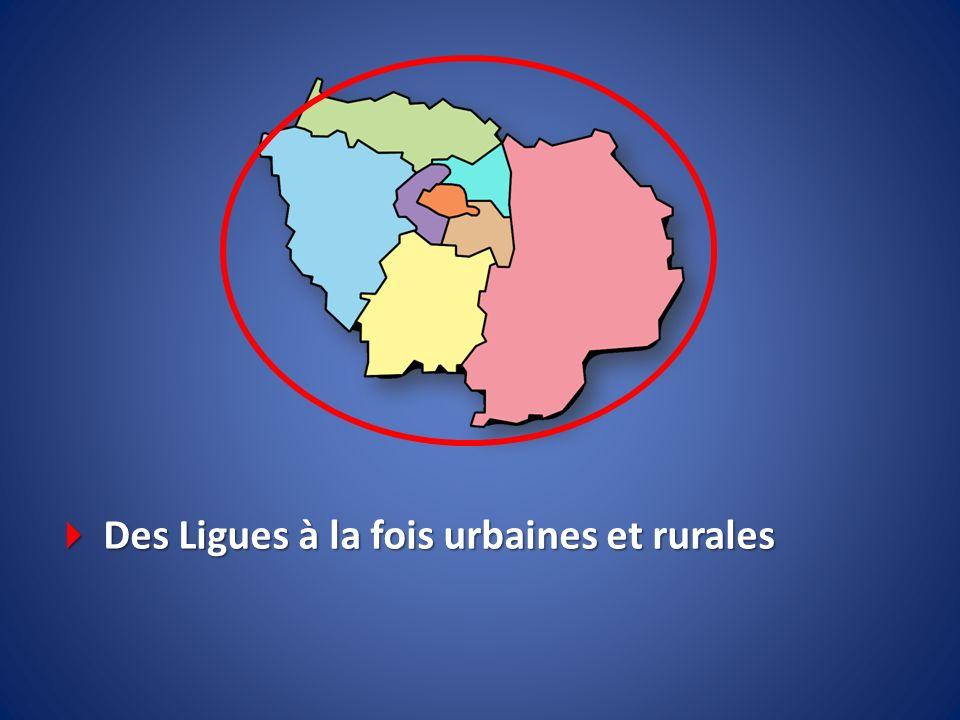 Des Ligues à la fois urbaines et rurales Des Ligues à la fois urbaines et rurales