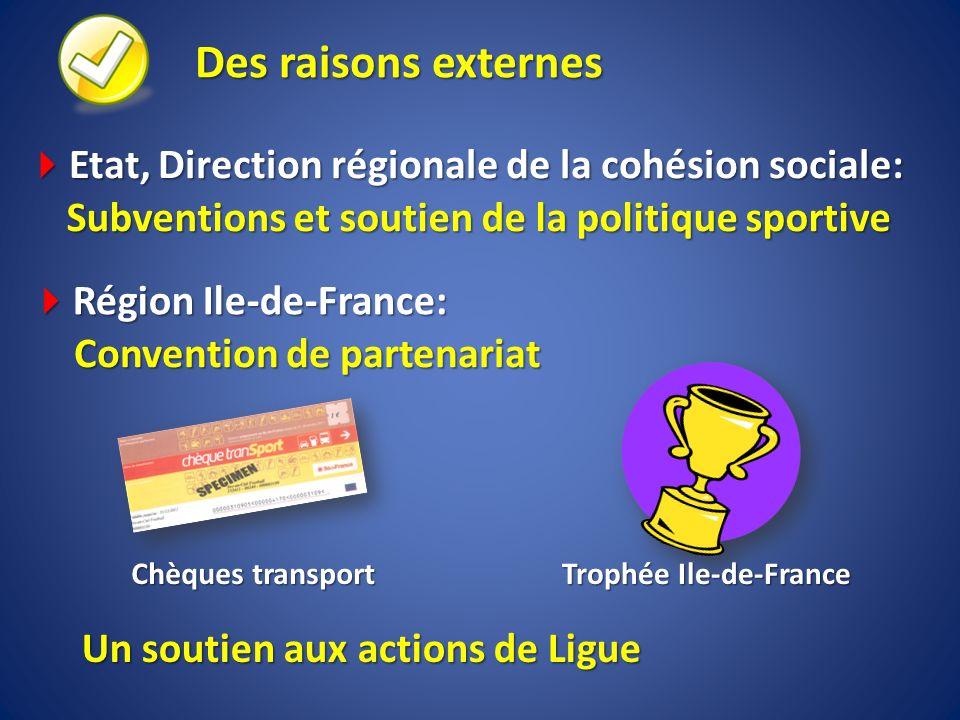 Des raisons externes Etat, Direction régionale de la cohésion sociale: Etat, Direction régionale de la cohésion sociale: Subventions et soutien de la