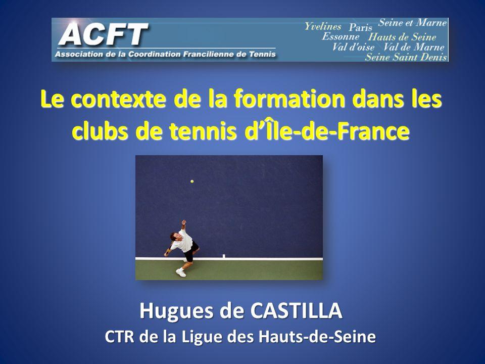 Le contexte de la formation dans les clubs de tennis dÎle-de-France Hugues de CASTILLA CTR de la Ligue des Hauts-de-Seine
