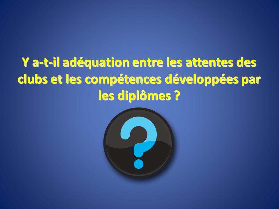 Y a-t-il adéquation entre les attentes des clubs et les compétences développées par les diplômes ?