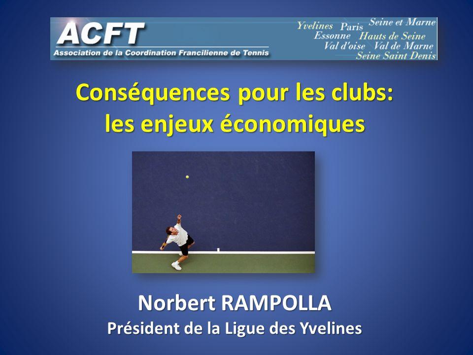 Conséquences pour les clubs: les enjeux économiques Norbert RAMPOLLA Président de la Ligue des Yvelines