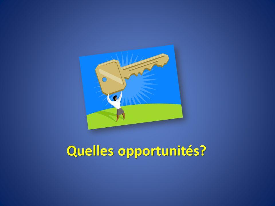 Quelles opportunités?