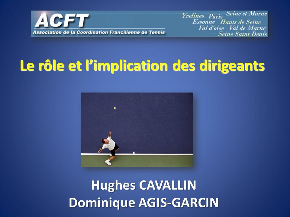 Le rôle et limplication des dirigeants Hughes CAVALLIN Dominique AGIS-GARCIN