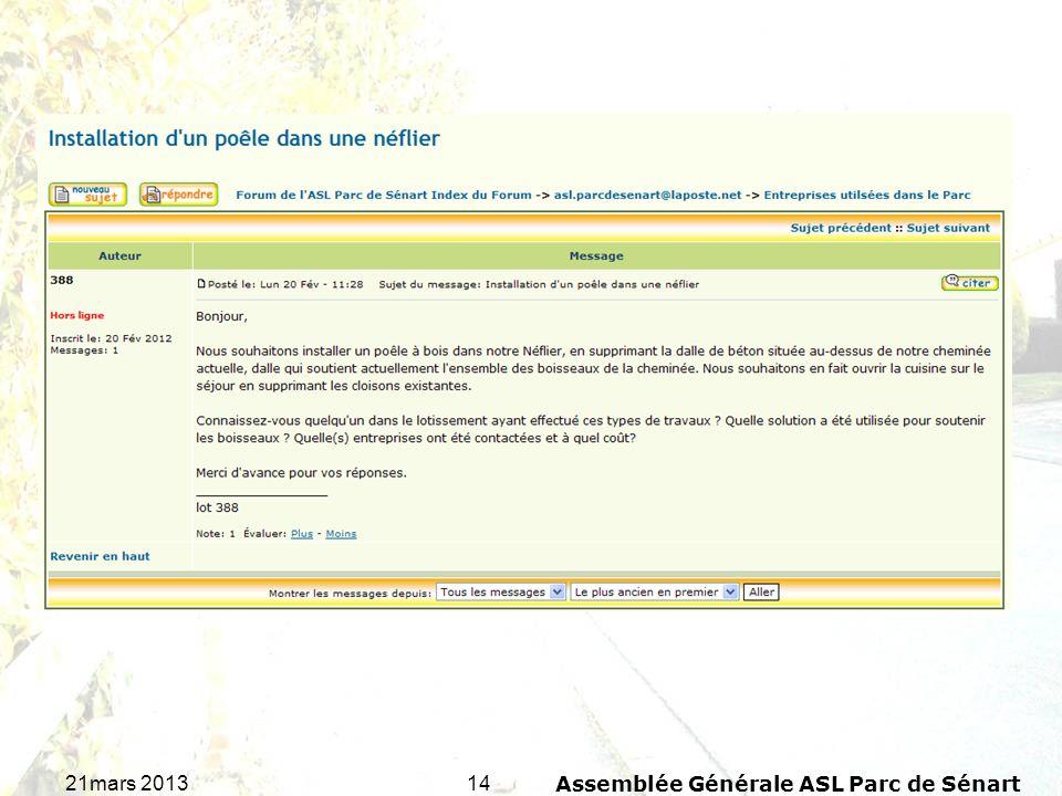 1421mars 2013Assemblée Générale ASL Parc de Sénart