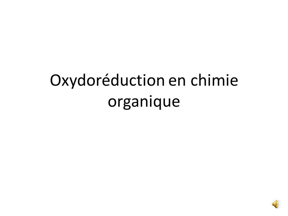 Oxydoréduction en chimie organique