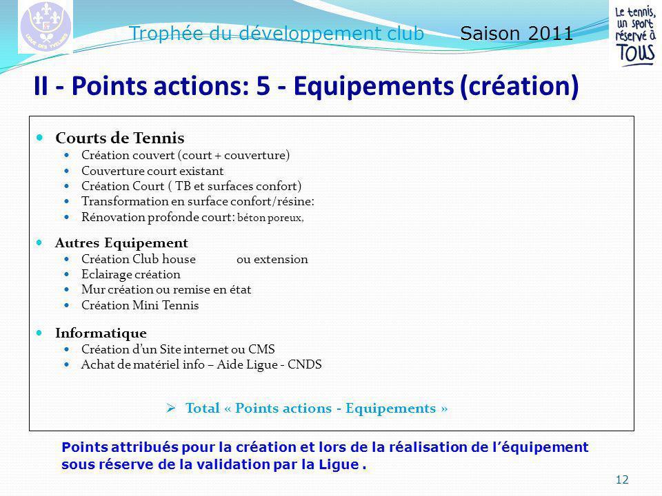 II - Points actions : 4 - Conquête des nouveaux licenciés.