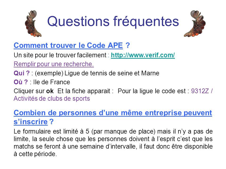 Comment trouver le Code APE .