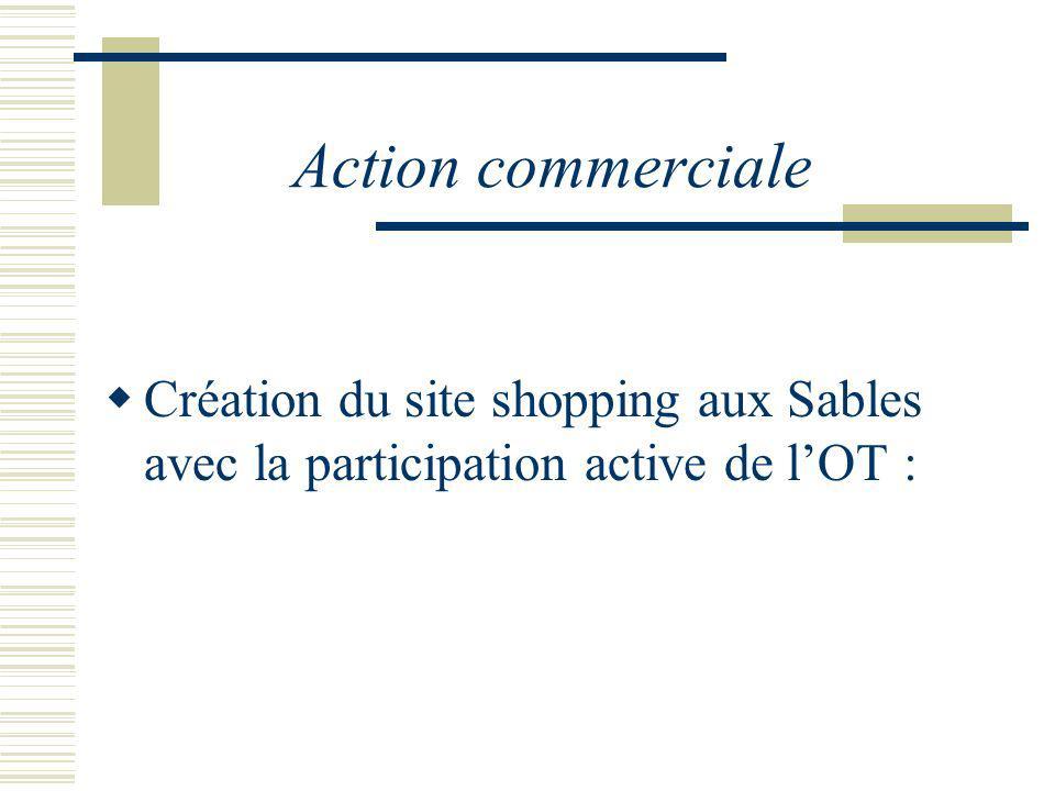 Action commerciale Création du site shopping aux Sables avec la participation active de lOT :
