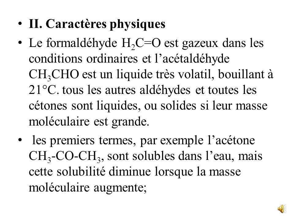 Ret R : alkyle ou aryle. Aldéhydes et cétones sont des composés carbonylés. On représente souvent les aldéhydes par R-CHO ou RCHO, sans expliciter la
