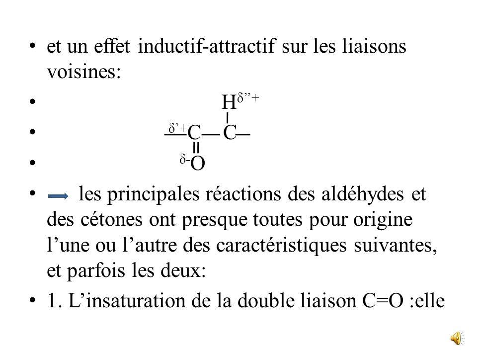 Elle est pratiquement nulle à partir de cinq carbones. III. Réactivité Les éléments structuraux déterminant la réactivité des aldéhydes et des cétones