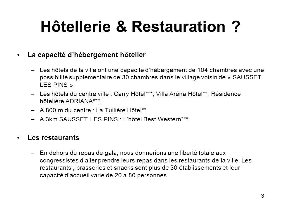 3 Hôtellerie & Restauration .