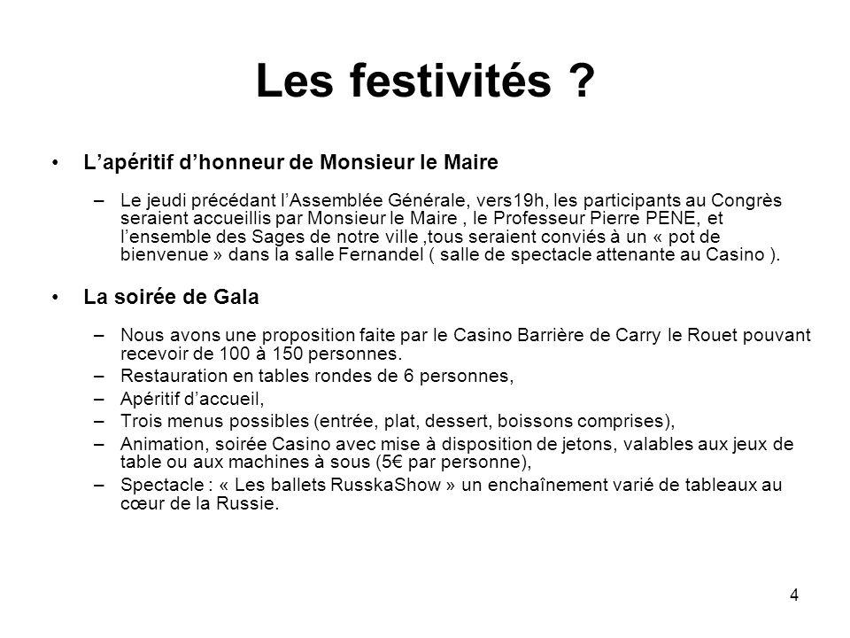 4 Les festivités .