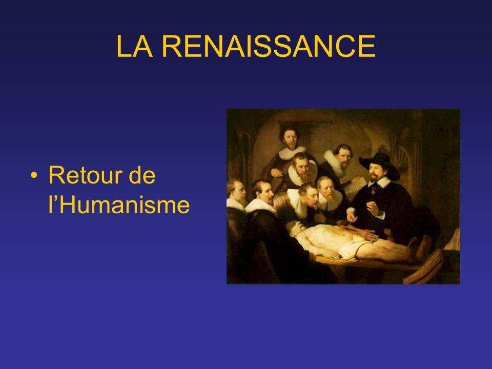 LA RENAISSANCE Retour de lHumanisme