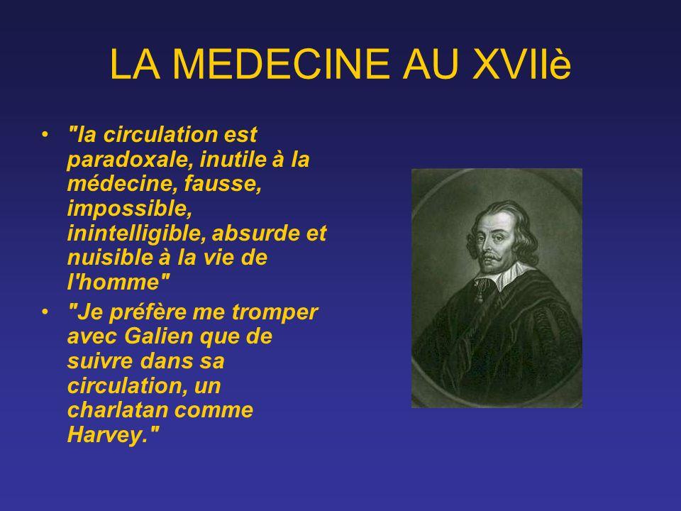 LA MEDECINE AU XVIIè