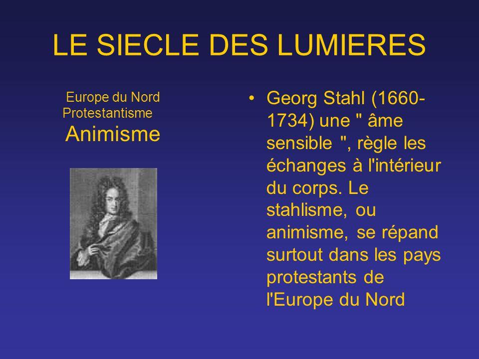 LE SIECLE DES LUMIERES Georg Stahl (1660- 1734) une
