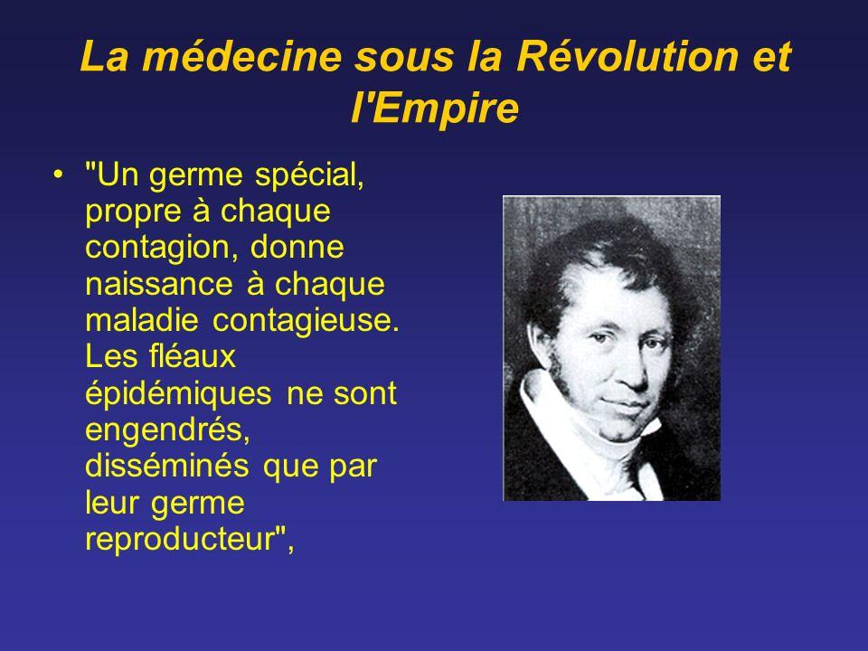 La médecine sous la Révolution et l'Empire