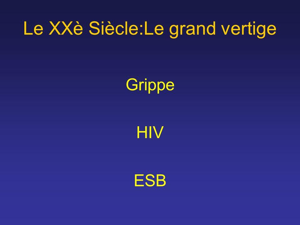 Le XXè Siècle:Le grand vertige Grippe HIV ESB