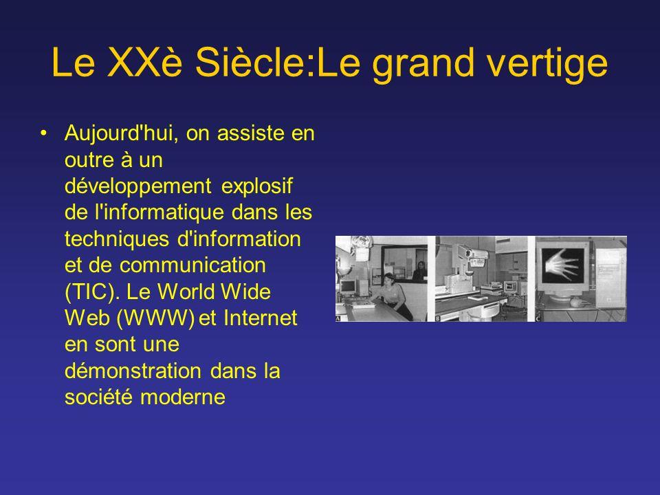 Aujourd'hui, on assiste en outre à un développement explosif de l'informatique dans les techniques d'information et de communication (TIC). Le World W