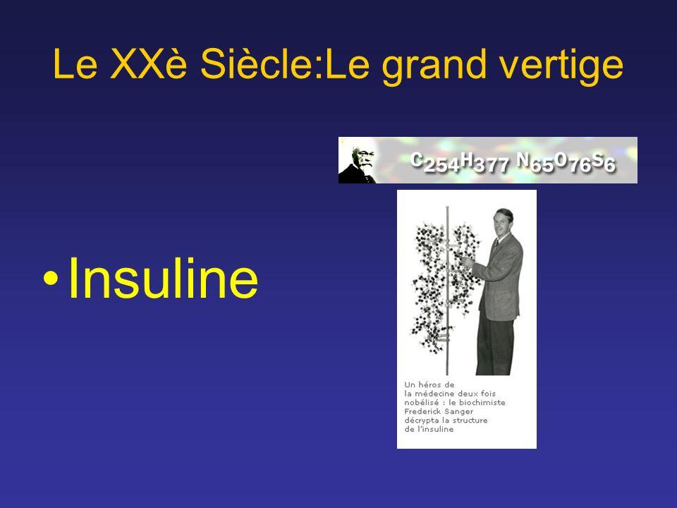 Le XXè Siècle:Le grand vertige Insuline