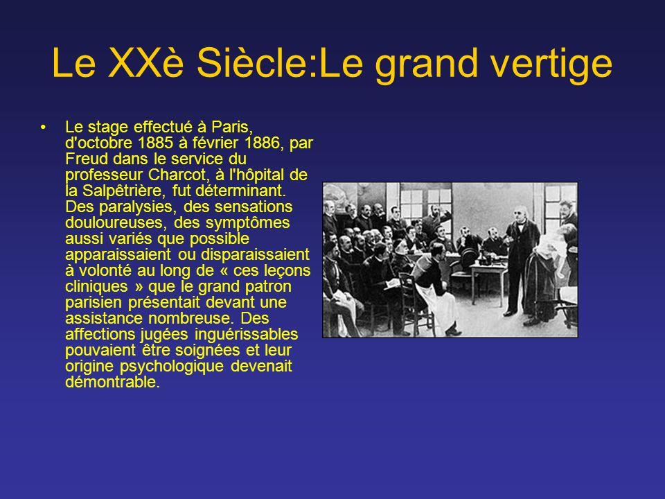 Le XXè Siècle:Le grand vertige Le stage effectué à Paris, d'octobre 1885 à février 1886, par Freud dans le service du professeur Charcot, à l'hôpital