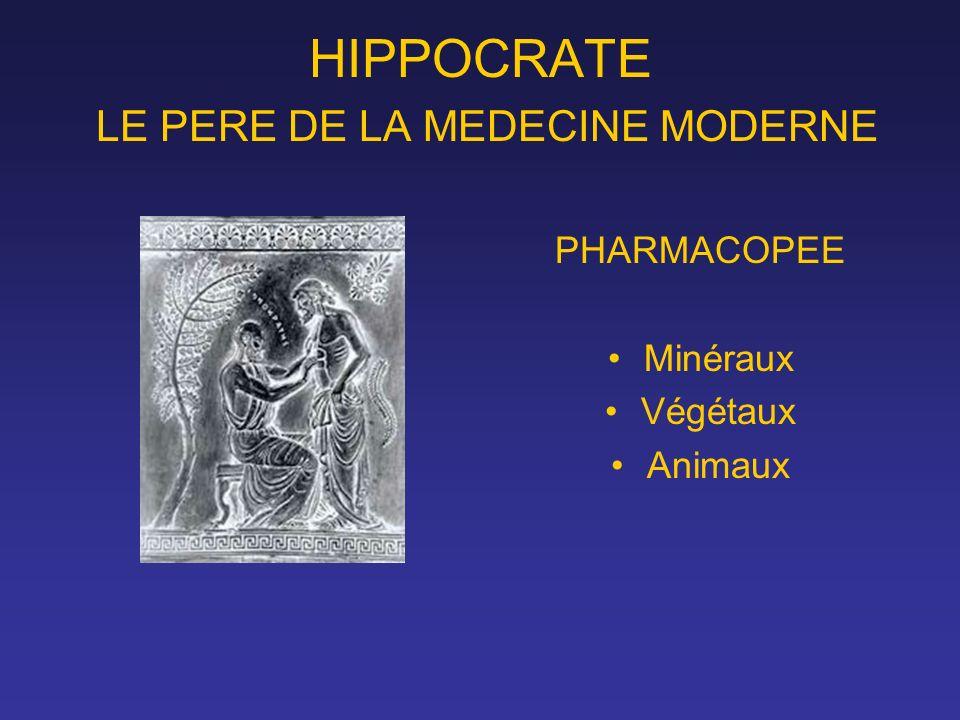 HIPPOCRATE LE PERE DE LA MEDECINE MODERNE PHARMACOPEE Minéraux Végétaux Animaux