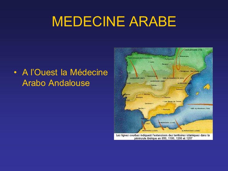 MEDECINE ARABE A lOuest la Médecine Arabo Andalouse