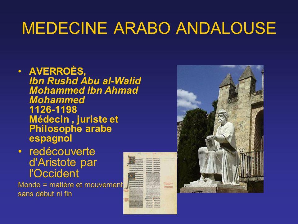MEDECINE ARABO ANDALOUSE AVERROÈS, Ibn Rushd Abu al-Walid Mohammed ibn Ahmad Mohammed 1126-1198 Médecin, juriste et Philosophe arabe espagnol redécouv