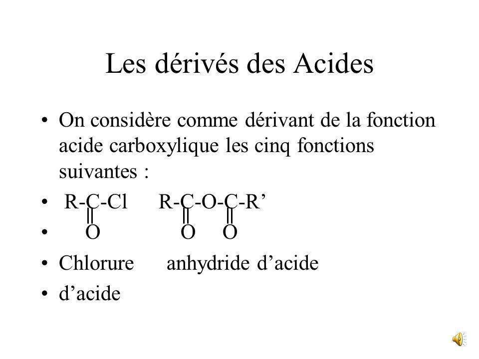 R-C-OH + H + R-C-OH O + OH Ceci explique que, dans un acide carboxylique, les liaisons H ne sétablissent pas entre les groupes OH (comme dans les alco