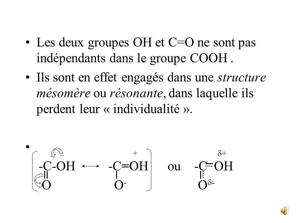 Leur solubilité dans leau, totale jusquen C 4, diminue ensuite et devient nulle à partir de C 9. III. Réactivité A. Présentation Le groupe fonctionnel
