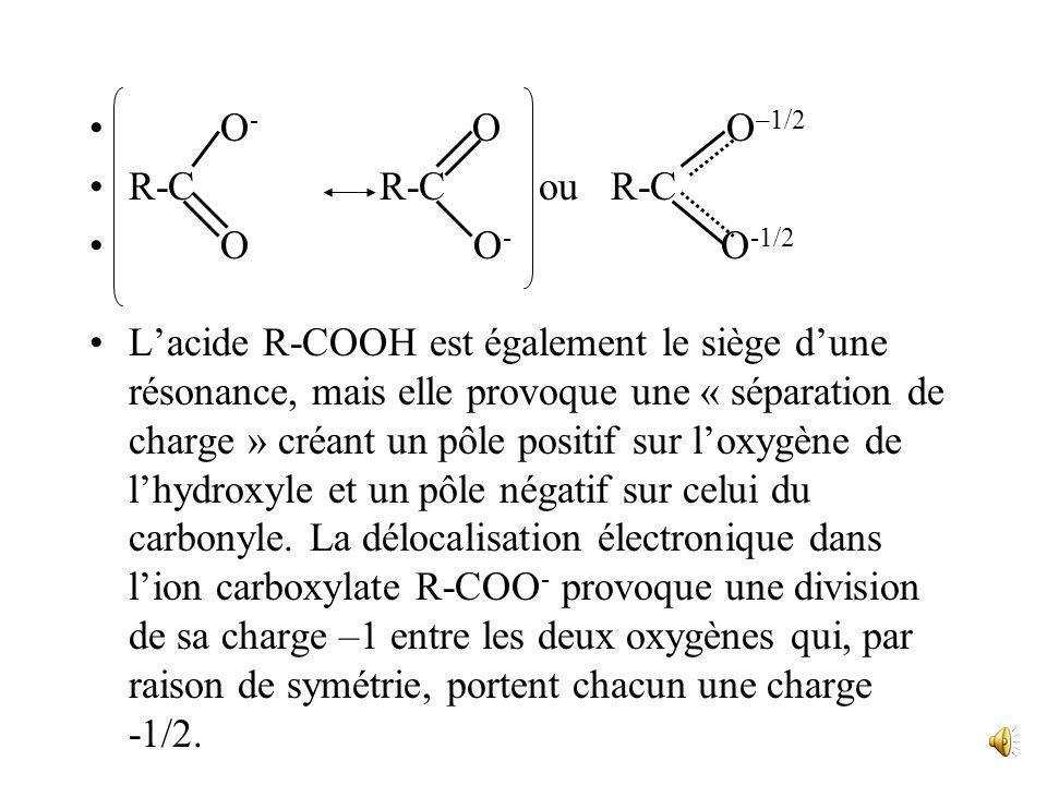Ce sont des acides faibles dans leau.( les acides forts sont totalement dissociés dans leau: HCl, HNO 3,…). Mais cest une acidité importante pour des