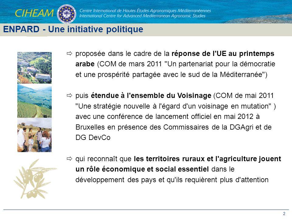 2 ENPARD - Une initiative politique proposée dans le cadre de la réponse de l'UE au printemps arabe (COM de mars 2011