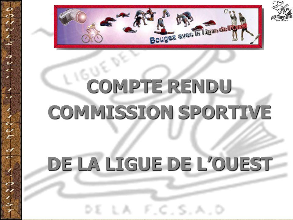 COMPTE RENDU COMMISSION SPORTIVE DE LA LIGUE DE LOUEST