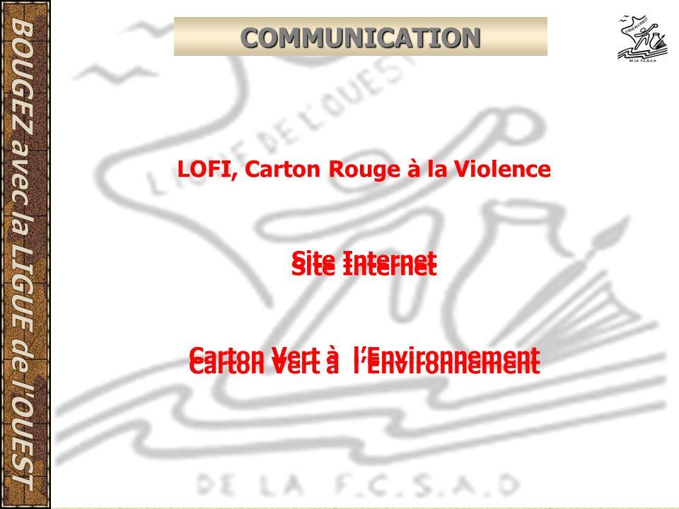COMMUNICATION LOFI, Carton Rouge à la Violence Site Internet Carton Vert à lEnvironnement Site Internet Carton Vert à lEnvironnement