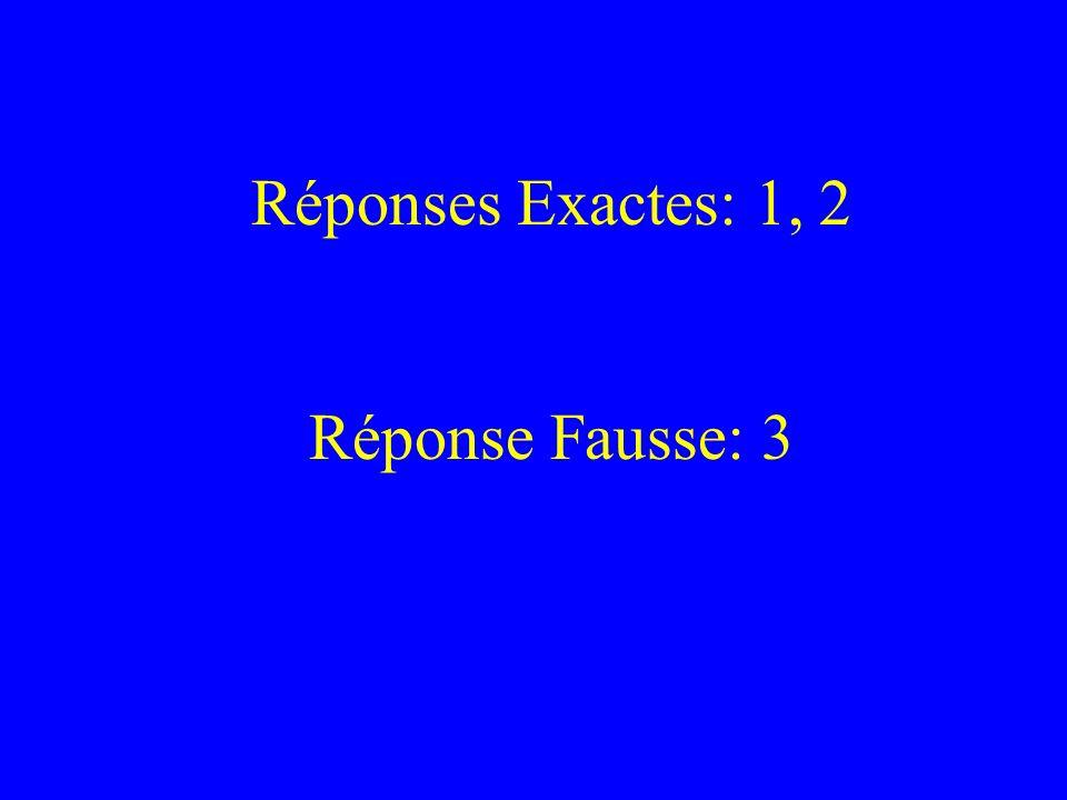 Réponses Exactes: 1, 2 Réponse Fausse: 3