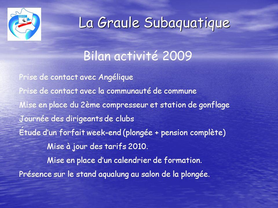 La Graule Subaquatique Projet activité 2010 et 2011 Nettoyage et aménagement des abords Création dune zone réservée aux plongeurs.