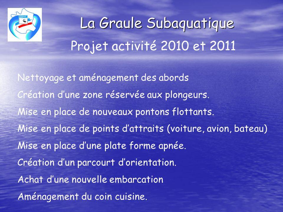 La Graule Subaquatique Projet activité 2010 et 2011 Création dun film promotionnel sur la base fédérale.