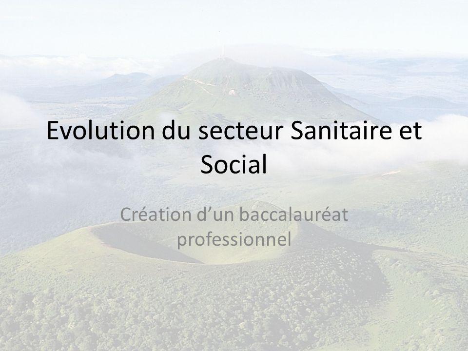 Evolution du secteur Sanitaire et Social Création dun baccalauréat professionnel
