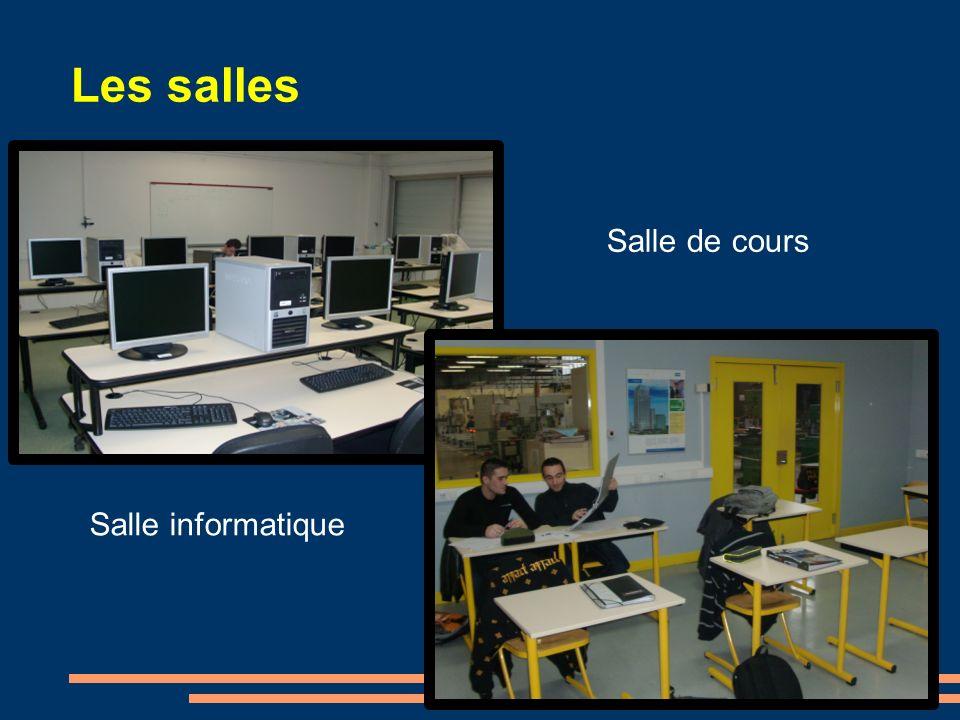 Les salles Salle informatique Salle de cours