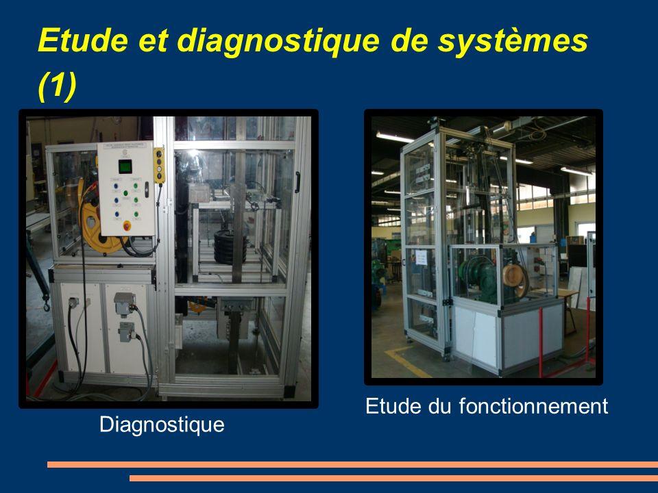 Etude et diagnostique de systèmes (1) Diagnostique Etude du fonctionnement