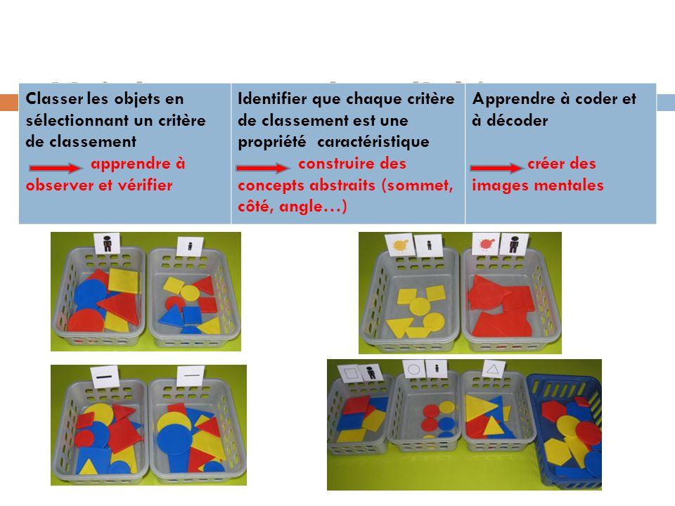 Voir le concept dans lobjet Classer les objets en sélectionnant un critère de classement apprendre à observer et vérifier Identifier que chaque critèr