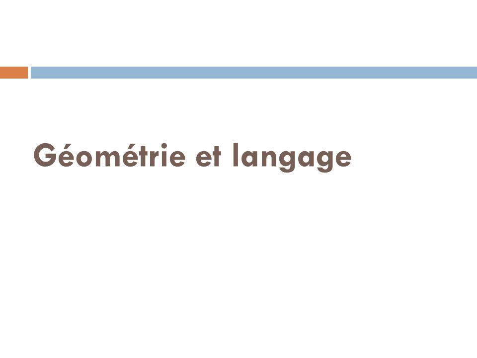 Géométrie et langage