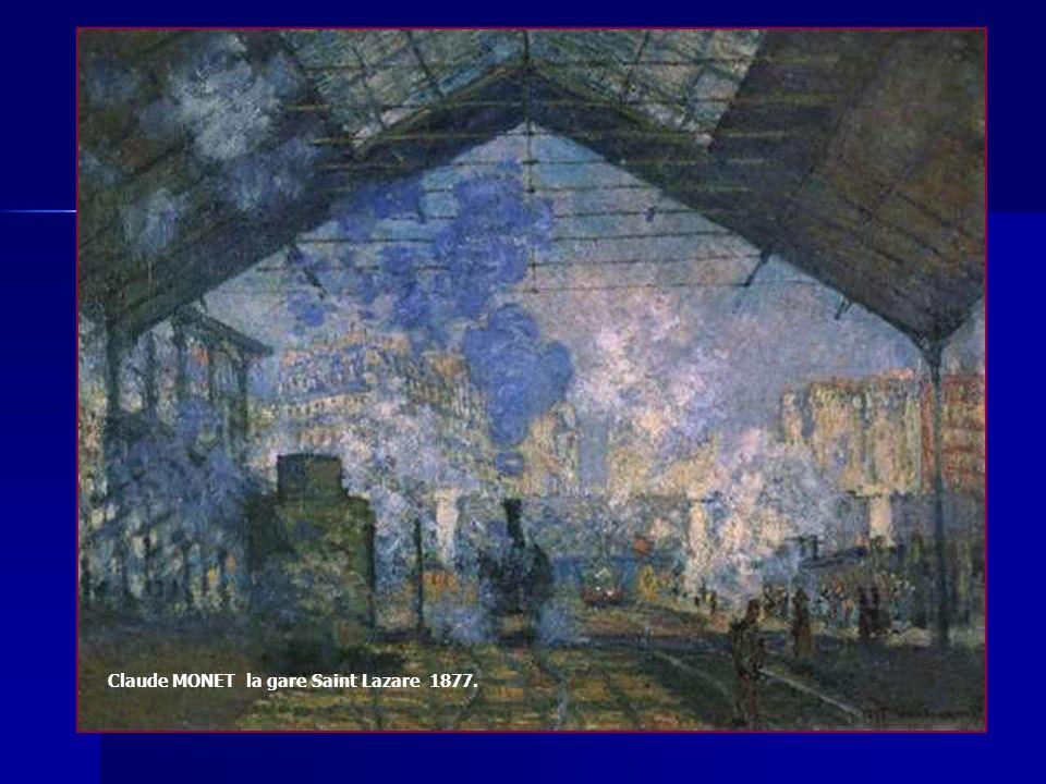 Claude MONET la gare Saint Lazare 1877.