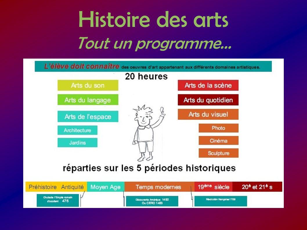 Histoire des arts Tout un programme...