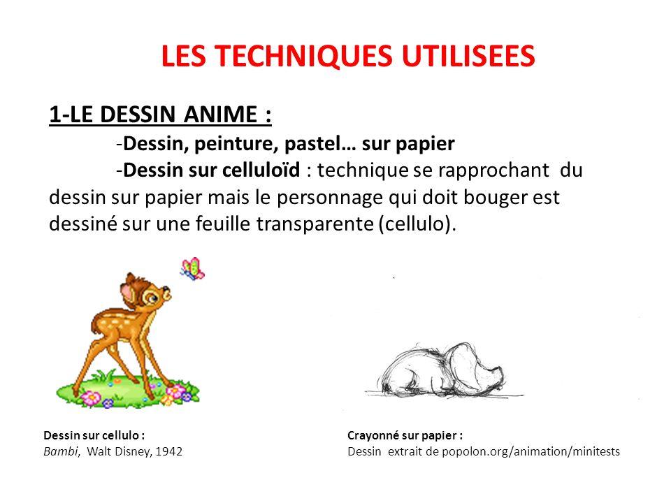 LES TECHNIQUES UTILISEES 2- LES «OBJETS» EN 2D : -Papiers ou tissus découpés.