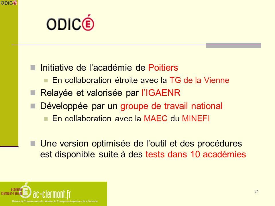 21 Initiative de lacadémie de Poitiers En collaboration étroite avec la TG de la Vienne Relayée et valorisée par lIGAENR Développée par un groupe de t