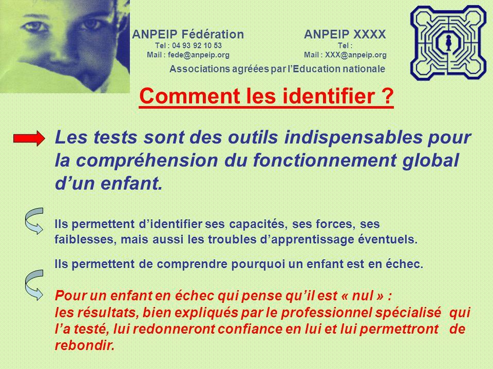 ANPEIP XXXX Tel : Mail : XXX@anpeip.org Associations agréées par lEducation nationale ANPEIP Fédération Tel : 04 93 92 10 53 Mail : fede@anpeip.org Pa