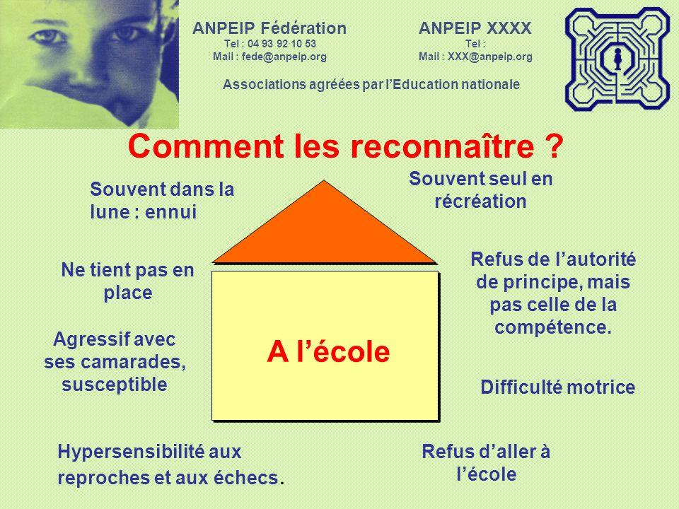 ANPEIP XXXX Tel : Mail : XXX@anpeip.org Associations agréées par lEducation nationale ANPEIP Fédération Tel : 04 93 92 10 53 Mail : fede@anpeip.org Comment les reconnaître .