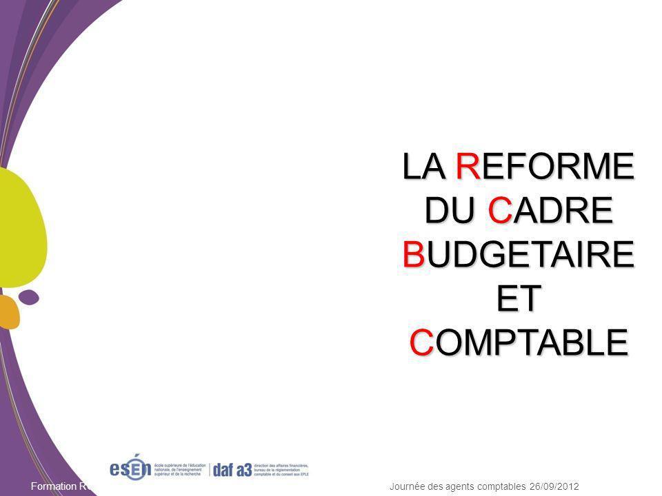 Module CBUD 12 Formation RCBC DAF/Esen - octobre 2011 Mémoires : application de la loi de finances rectificative 84-1209 du 24.12.1984.