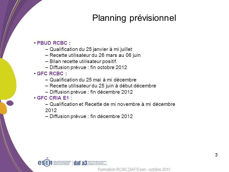 Module PRÉPA BUD 4 Formation RCBC DAF/Esen - octobre 2011 Le module PBUD est OBLIGATOIRE.