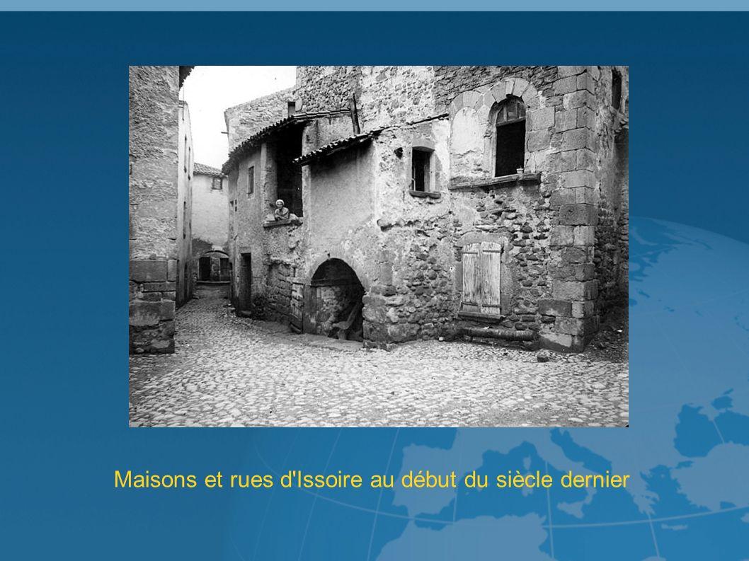 Maisons et rues d Issoire au début du siècle dernier